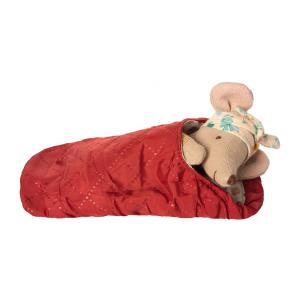 Maileg - BU007 - Set de poupées souris de randonnée grande soeur et grand frère avec happy camper tent (415520)