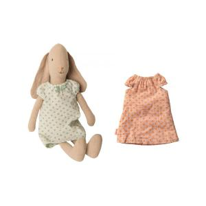 Maileg - BU019 - Set de poupées et vêtement - Lapin taille 2, chemises de nuit (415544)