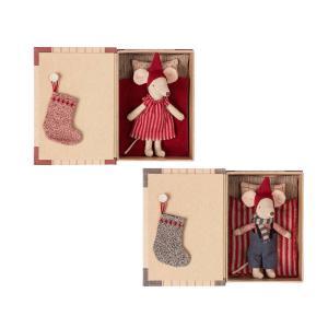 Maileg - BU022 - Souris de Noël dans un livre set poupées (grand frère, grande soeur) Taille: 17 cm (415550)