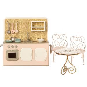 Maileg - BU027 - Set de cuisine, table et Chaise mini (415560)