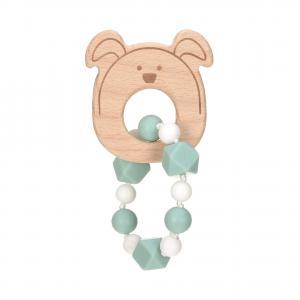 Lassig - 1313006524 - Bracelet de dentition Bois/Silicone Little Chums Chien (415628)