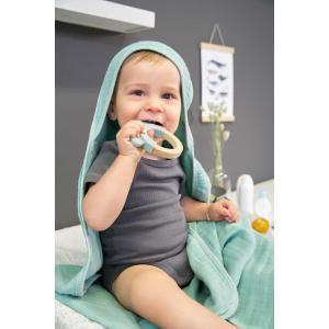 Lassig - 1313007108 - Anneau de dentition Bois/Silicone Little Chums Chat (415636)