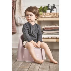 Babybjorn - 055264 - Pot Fauteuil, Rose pastel/Blanc (416080)