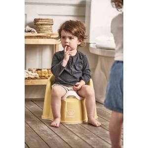 Babybjorn - 055266 - Pot Fauteuil, Jaune pastel/Blanc (416082)