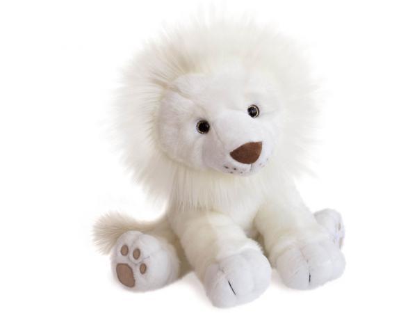 Peluche lion des neiges - taille 40 cm