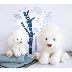 Histoire d'ours - HO2982 - Peluches Lion des neiges 40 cm - collection Les grands espaces (416162)