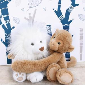 Histoire d'ours - HO2981 - Peluches Lion des neiges 28 cm - collection Les grands espaces (416166)