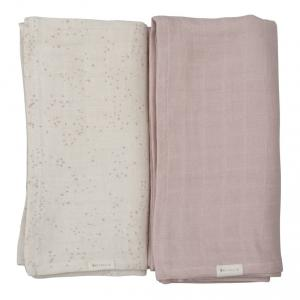 Fabelab - 28006049203 - Swaddle- Printed and solid pack- Autmun Mist (416238)