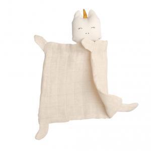 Fabelab - 1801836100 - Doudou licorne en coton 34x26 cm (416294)