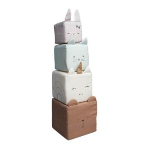 Fabelab - 1904499099 - Soft Blocks - Animals 13 x 43 cm  (416380)