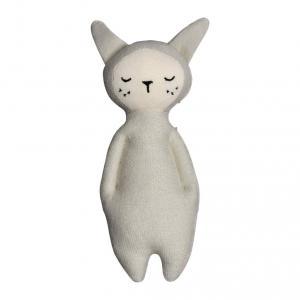 Fabelab - 1905703101 - Hochet lapin en coton gris clair - 17 cm (416444)