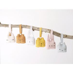 Fabelab - 2801403103 - Animal Rattle- Bunny- Mauve (416478)