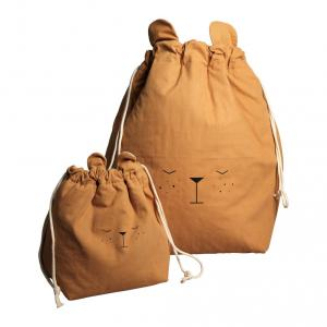 Fabelab - 1901904305 - Storage Bag - Small - Bear - Ochre   30 x 40 cm (416536)