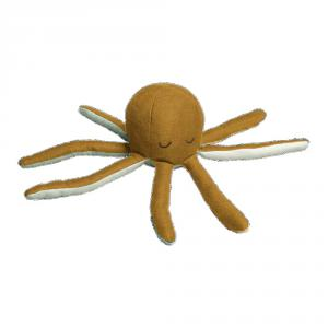 Fabelab - 1901440105 - Octopus Rattle - Ochre / Beach Grass 10x22cm (416538)