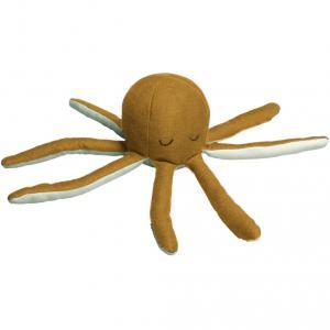 Fabelab - 1901440105 - Hochet poulpe en coton ocre - 10x22 cm (416538)