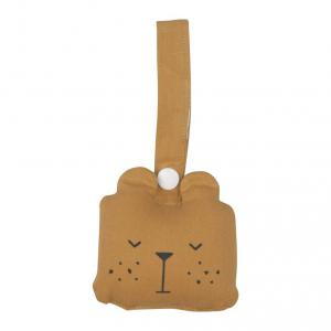 Fabelab - 2801404105 - Animal Rattle- Bear- ochre 10x10cm (416624)