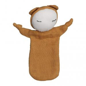 Fabelab - 1901854105 - Doudou en coton - ochre 10x12,5 cm (416672)