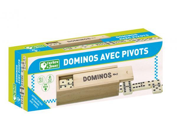 Dominos avec pivots - coffret en bois