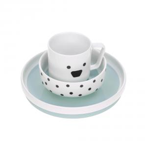 Lassig - 1210037524 - Coffret repas en porcelaine Little Chums Chien (416866)