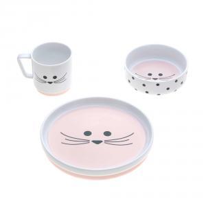 Lassig - 1210037725 - Coffret repas en porcelaine Little Chums Souris (416868)
