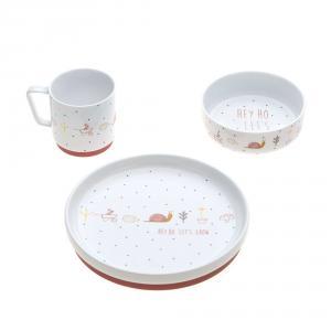 Lassig - 1210037836 - Coffret repas en porcelaine Garden Explorer (416870)