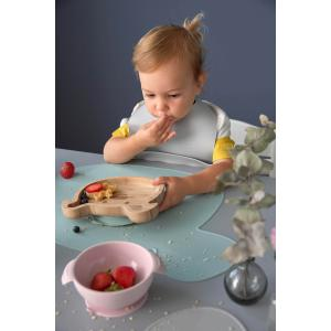 Lassig - 1310034253 - Set de table en silicone Little Chums Souris gris (416952)