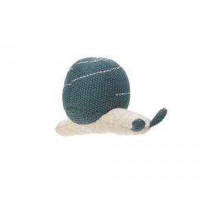 Lassig - 1313008471 - Hochet tricoté Garden Explorer Escargot bleu (417056)