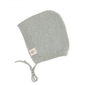 Lassig - 1531001565-80 - Bonnet tricoté GOTS Garden Explorer aqua-gris, 74 - 80 (7 - 12 mois) (417086)
