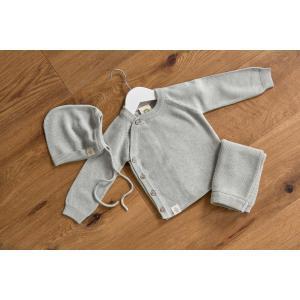 Lassig - 1531001565-80 - Bonnet tricoté GOTS Garden Explorer aqua-gris, (417086)