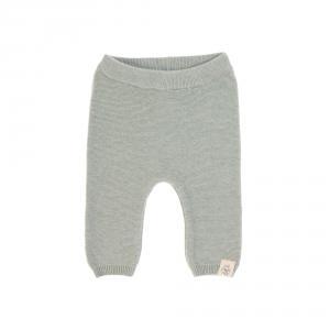 Lassig - 1531002565-80 - Pantalon tricoté GOTS Garden Explorer aqua-gris, 74/80 (417098)