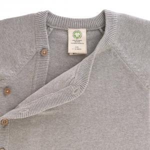 Lassig - 1531003200-80 - Gilet tricoté GOTS Garden Explorer gris, 74 - 80 (7 - 12 mois) (417106)
