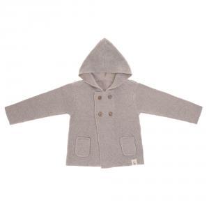 Lassig - 1531006200-68 - Gilet tricoté à capuche GOTS Garden Explorer gris, 62 - 68 (3 - 6 mois) (417140)