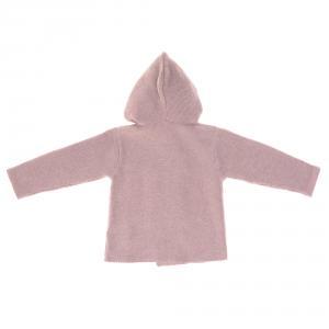 Lassig - 1531006703-80 - Gilet tricoté à capuche GOTS Garden Explorer Aqua Gris 74 - 80 (7 - 12 mois) (417150)