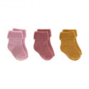 Lassig - 1532001959-19 - Lot de 3 chaussettes bébé GOTS bois de rose, (417174)