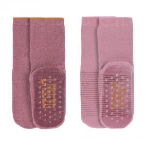 Lassig - 1532002961-15 - Lot de 2 chaussettes antidérapantes bois de rose (417182)