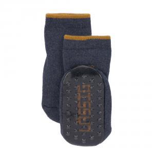 Lassig - 1532002962-27 - Lot de 2 chaussettes antidérapantes bleu/gris, 27 - 30 (4 - 6 ans) (417196)