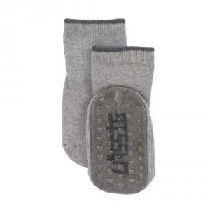 Lassig - 1532002963-27 - Lot de 2 chaussettes antidérapantes gris/beige, (417204)