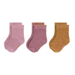 Lassig - 1532003959-23 - Lot de 3 chaussettes GOTS bois de rose,  23 - 26 (2 - 4 ans) (417222)