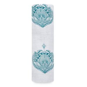 Aden and Anais - 8996 - Maxi-lange Paisley - teal (417352)
