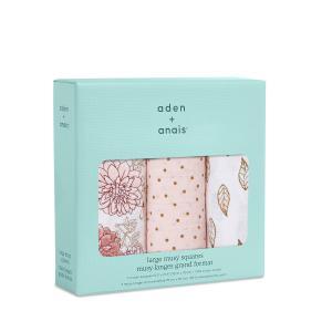 Aden and Anais - 7248 - Pack de 3 musy-langes en mousseline de coton dahlias (417362)