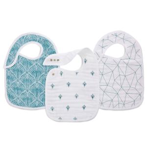 Aden and Anais - 7146 - Bavoirs à boutons-pression Paisley - teal (417382)