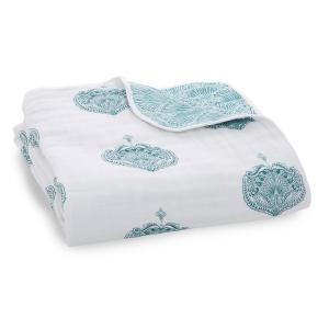 Aden and Anais - 6154 - Couverture de rêve Paisley teal (417396)