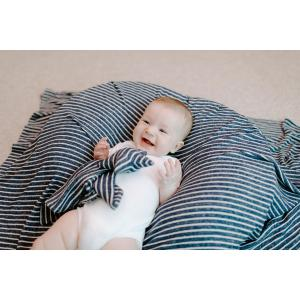 Aden and Anais - ALVN10003 - Doudou musy mate lovey maille ultra-cosy navy stripe (417470)