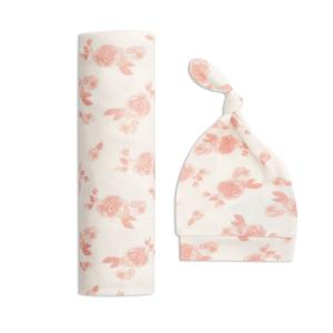 Aden and Anais - ASGN20001 - Coffret cadeau bonnet +maxi-lange en maille cosy rosettes TU (417472)