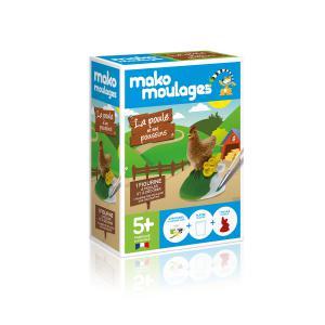 Mako moulages - 39044 - Mako moulages Ma poule&ses poussins Boîte unitaire - (417568)
