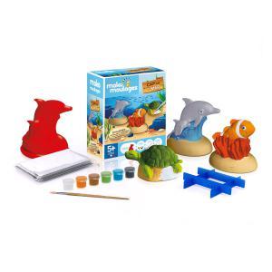 Mako moulages - 39048 - mako moulages Cap sur la mer - Etui 3 moules (dauphin-tortue-poisson clown) (417580)