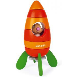 Janod - J08250 - Janod lapin - fusee carotte magnetique (418002)