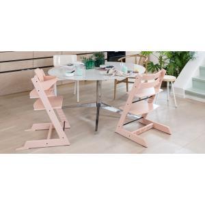 Stokke - BU197 - Tripp trapp chaise enfant rose poudre et Munch coffret repas essentiels (418240)