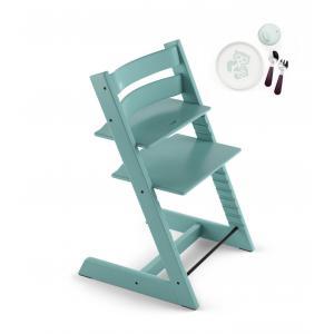 Stokke - BU165 - Chaise haute aqua Tripp trapp avec coffret essentiels Chaise pour la vie (418248)