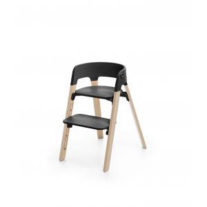 Stokke - BU175 - Steps, La chaise polyvalente qui évolue avec l'enfant Stokke (Hêtre naturel, assise noir) (418286)